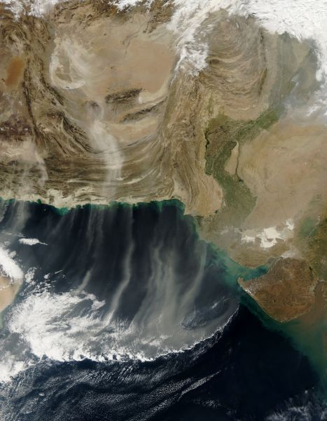 Dust storms in southwest Asia