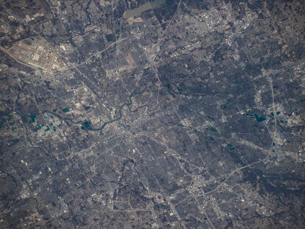 Astronaut's View of Indianapolis