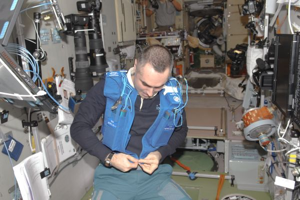 Cosmonaut Evgeny Tarelkin Preps for Typologia