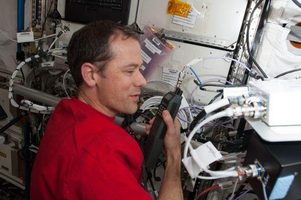 Astronaut Tom Marshburn With Ham Radio