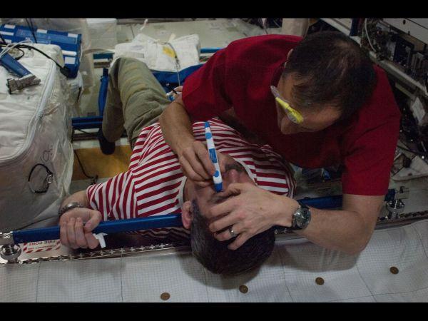 Astronauts Tom Marshburn and Chris Hadfield