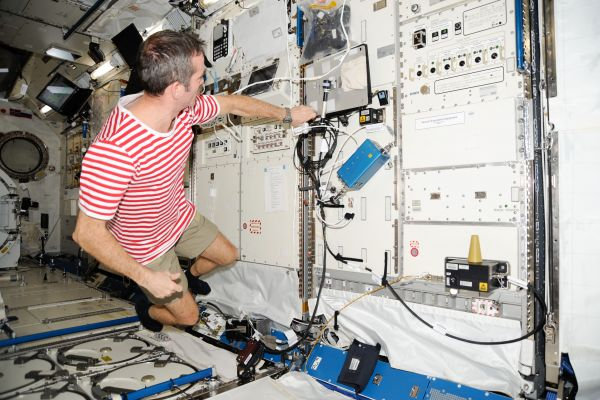 Astronaut Chris Hadfield in Kibo