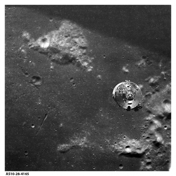 Apollo 10 CSM above Mt. Marilyn