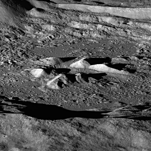 Hayn Crater imaged by NASA's Lunar Reconnaissance Orbiter