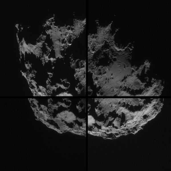 Comet On 7 September 2014 – NavCam montage