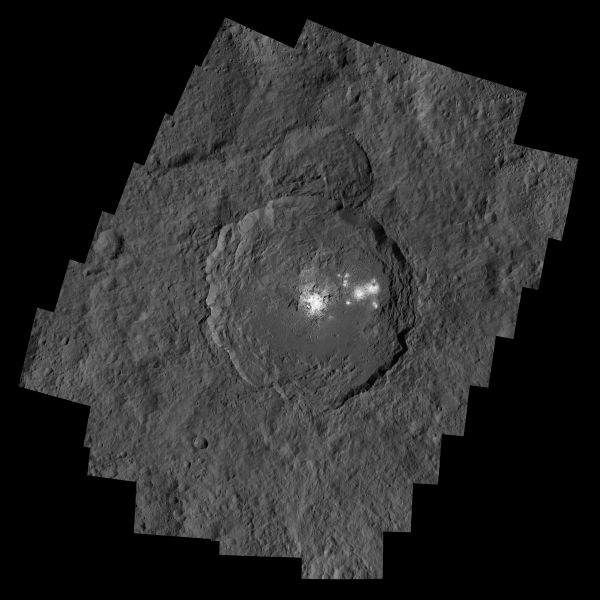 Occator Crater And Ceres' Brightest Spots