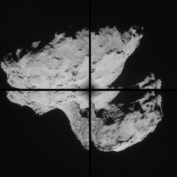 Comet On 31 August 2014 - NavCam montage