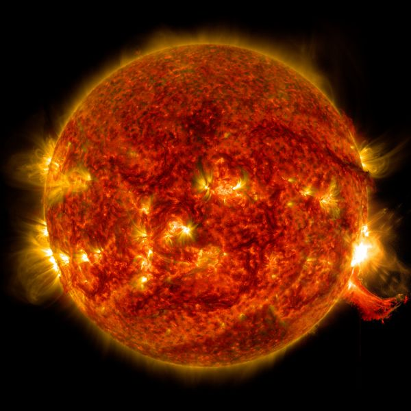 SDO View Of M7.3 Class Solar Flare On Oct. 2, 2014