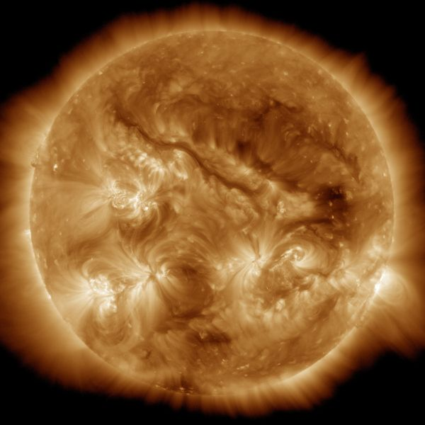 The Sun: SDO Sees Very Long Filament