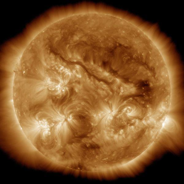 The Sun: SDO Sees Very Long Filament