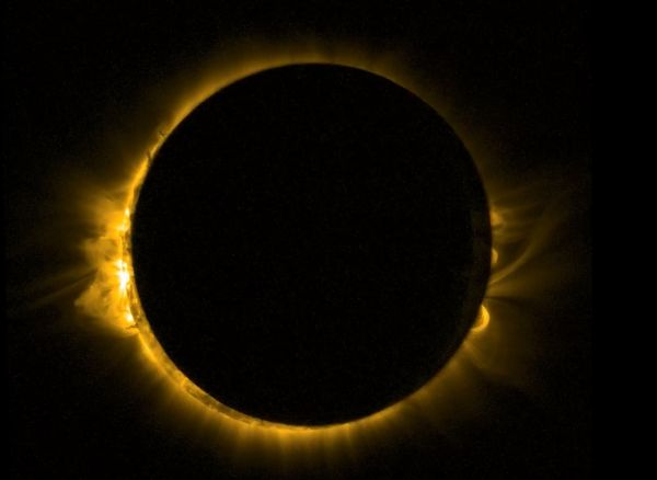 Proba 2 view Of Europe's solar eclipse