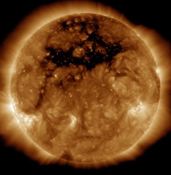 Coronal Hole Front And Center