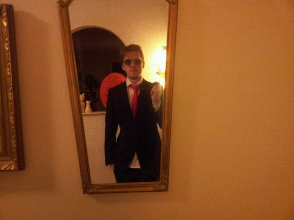 Trying out my suit for my cousin's wedding.