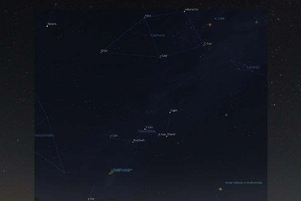 Cassiopeia - identified stars