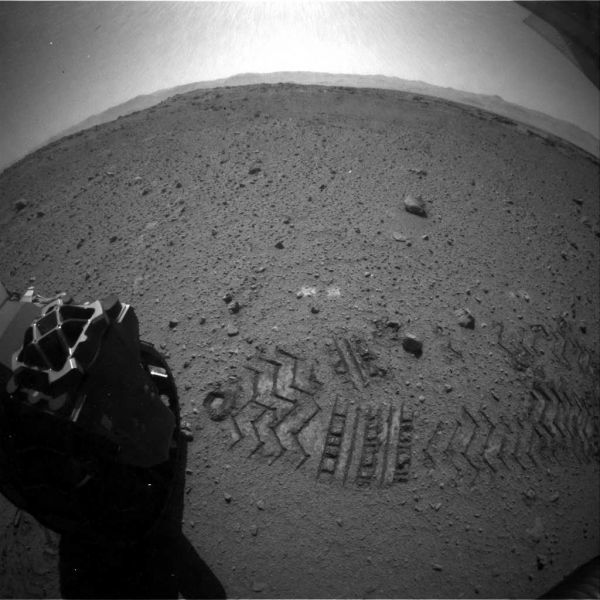 Curioisty Rover image, compressed