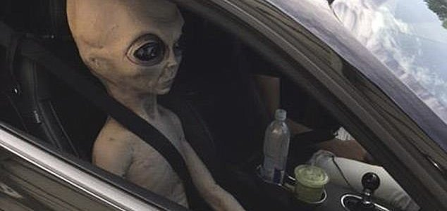 Alien Photo: Georgia Police Officers Stop Speeding 'alien
