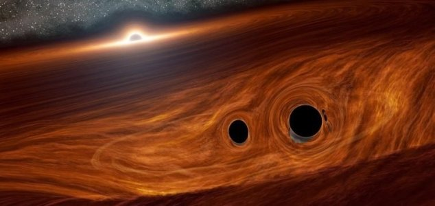 Light flare from merging black holes detected News-black-hole-merge