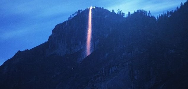 Rare Yosemite 'firefall' stuns park visitors News-firefall