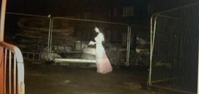'Woman in white' appears on building site CCTV News-ghost-building-site