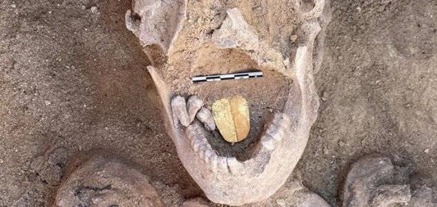 Mummies with gold tongues unearthed in Egypt News-gold-tongue