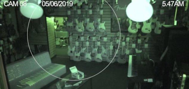 Guitar store CCTV captures ghostly activity News-guitar-shop